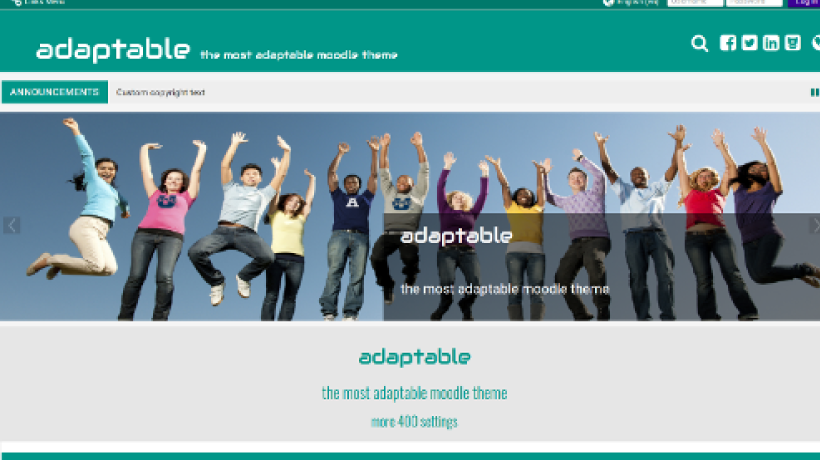 Adaptable Moodle Theme