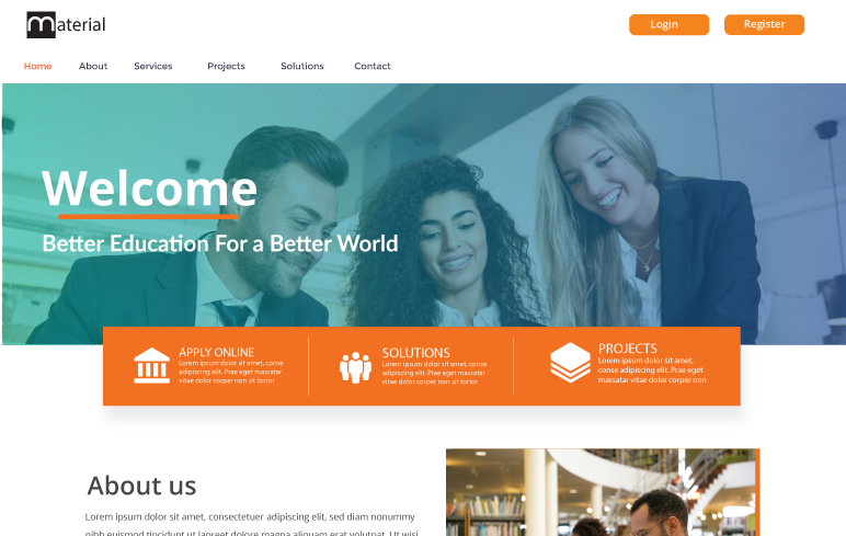 Material Moodle Theme